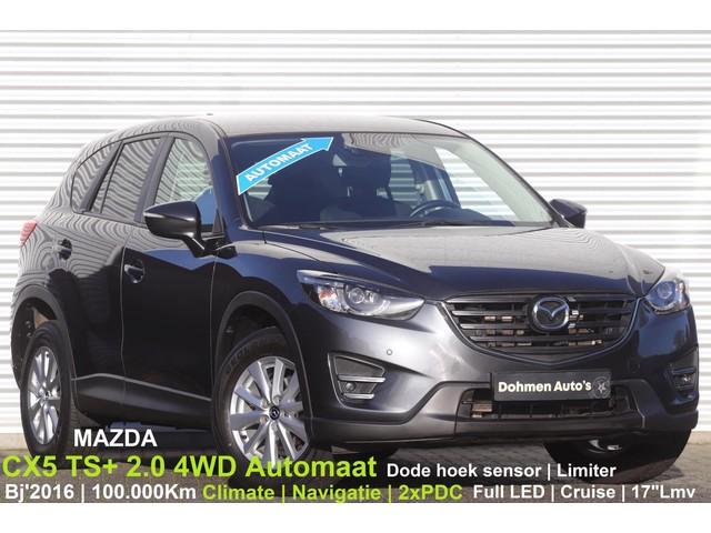 Mazda-CX-5-Mazda CX-5 2.0 TS+ 4WD Automaat | Navi | Climate | LED | Cruise | 2xPDC | 17