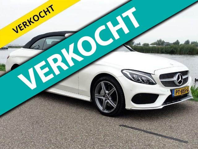 Mercedes-Benz-C 200-Mercedes-Benz C-cabrio C200 Cabriolet 4 Matic Parelmoer wit-OrangeFinancialLease.nl